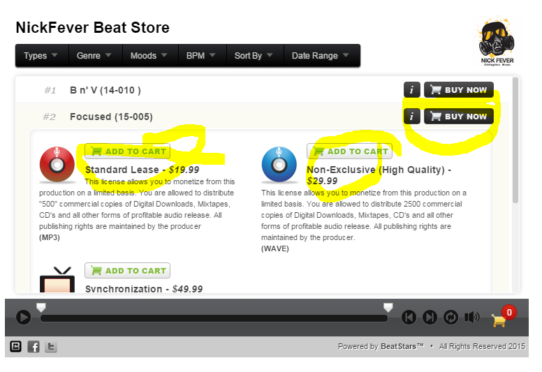 buy beats online - nickfever - step 1