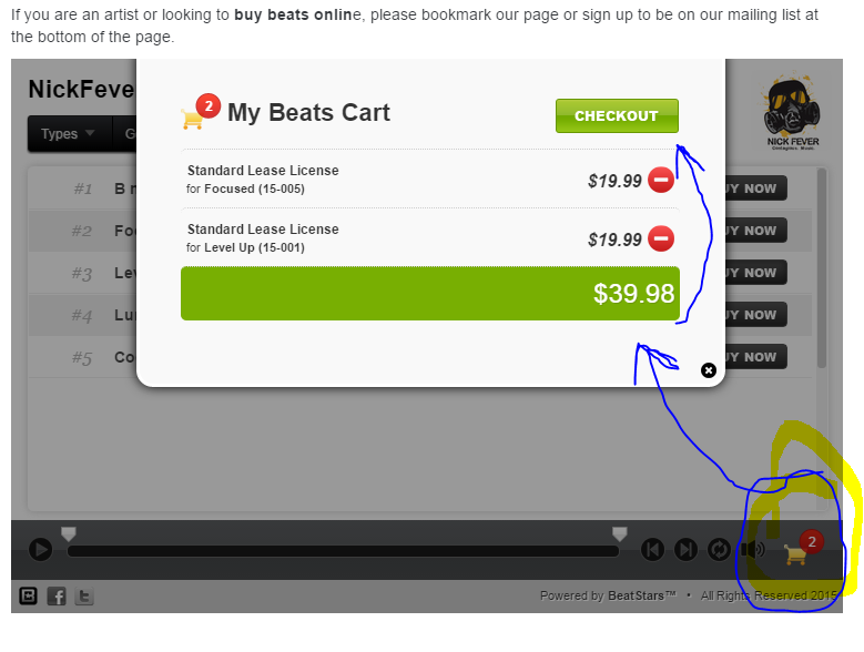 buy beats online - nickfever - step 2