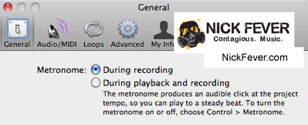 How to Turn Off Metronome in Garageband