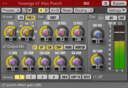 lfmaxpunch bass enhancer for contemporary music